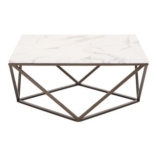 Modern Contemporary Faux Marble Coffee Table AllModern - Rectangle white marble coffee table