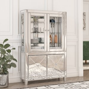 Adriana Lighted Curio Cabinet by Willa Ar..