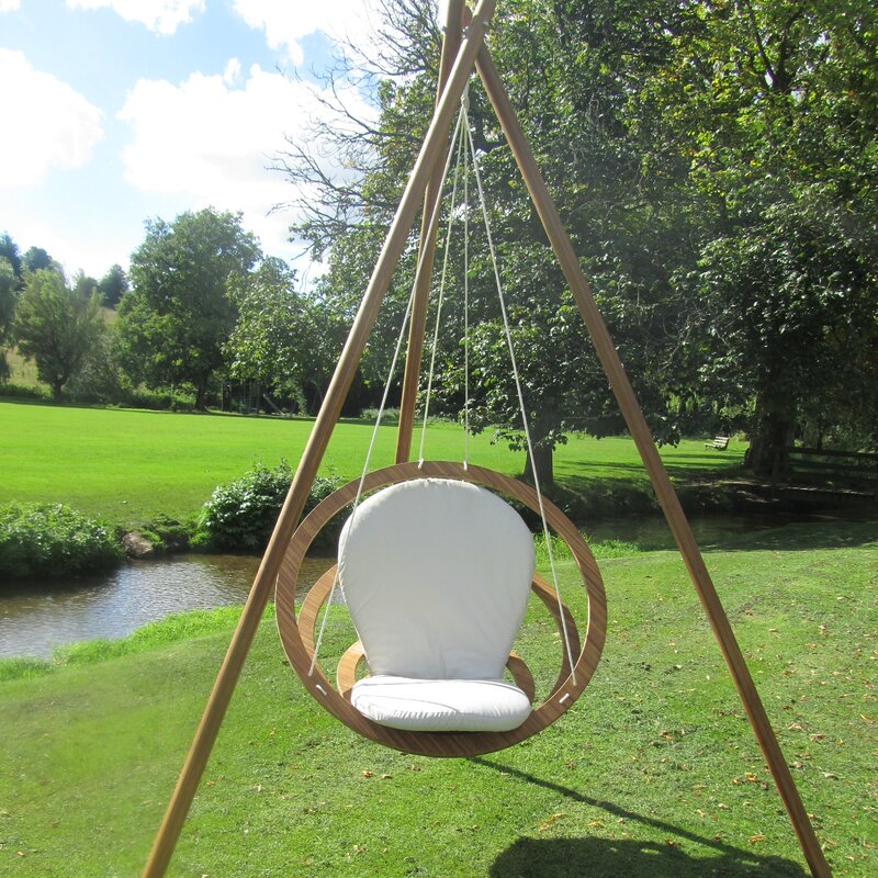 swing chair with stand Bambrella Circa Swing Chair with Stand | Wayfair swing chair with stand