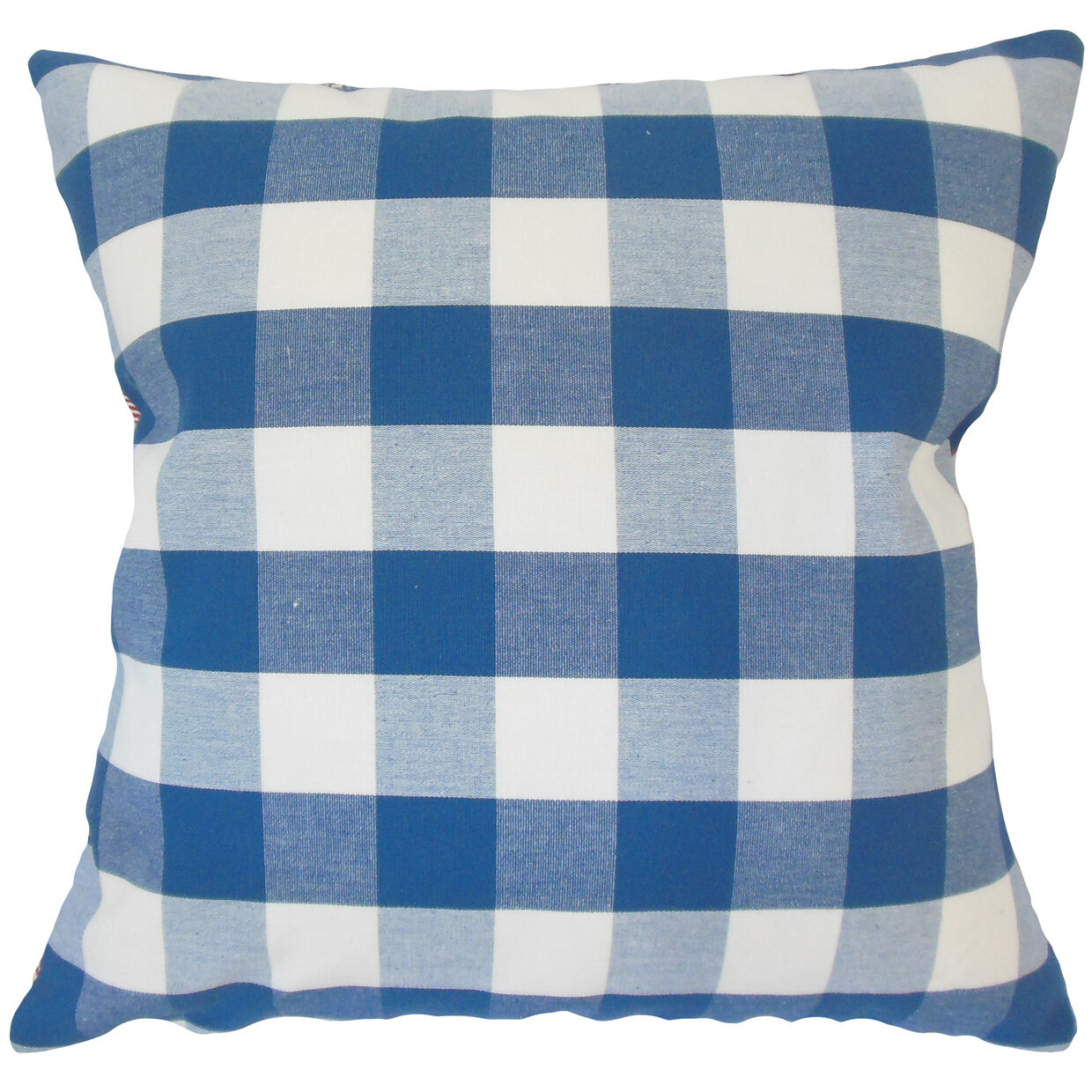 August Grove Lopes Plaid Down Filled 100% Cotton Throw Pillow Wayfair