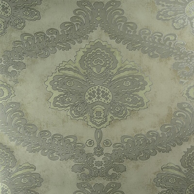 Classic Metallic 275 X Floral Damask Wallpaper
