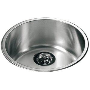 165 x 165 top mount round single bowl kitchen sink. Interior Design Ideas. Home Design Ideas