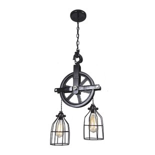 Barn pulley pendant light wayfair barn pulley 2 light cascade pendant aloadofball Image collections