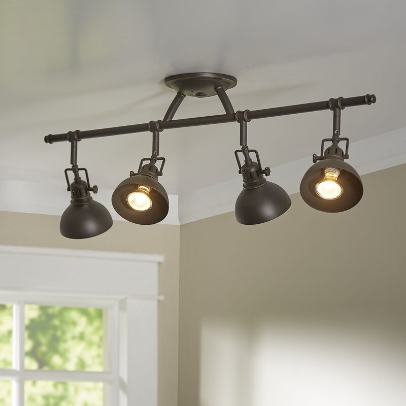 Kitchen Ceiling Track Lights: Beachcrest Home Dollinger 4-Light Semi Flush Mount