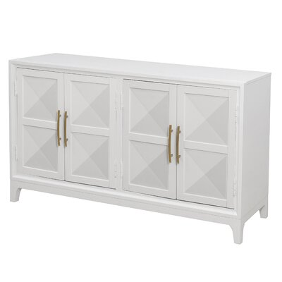 Mercer41 Aiello Four Door Geometric Front Sideboard