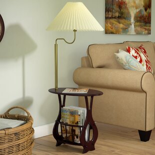 Portersville Floor Lamp End Table Magazine Rack Combination