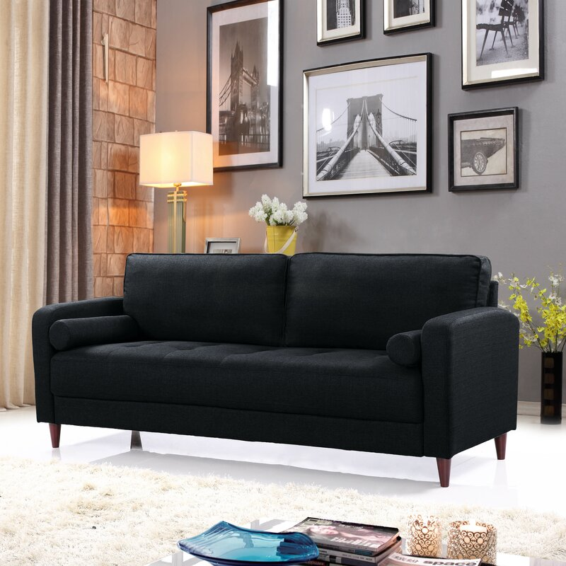 mid century modern furniture living room. Mid-Century Modern Linen Fabric Living Room Sofa Mid Century Modern Furniture Living Room