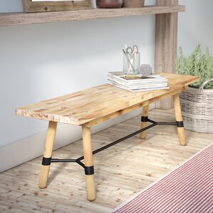Fiatt Wood Bench by Laurel Foundry Modern Farmhouse