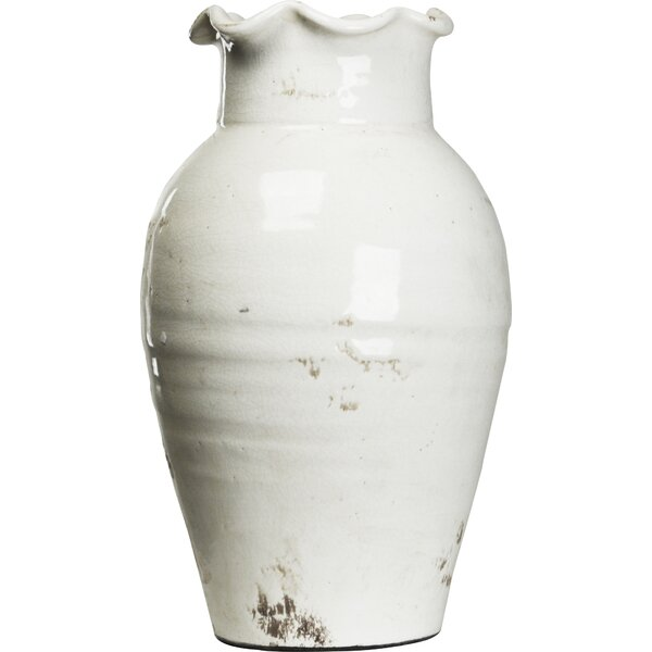 White Pottery Vase Wayfair