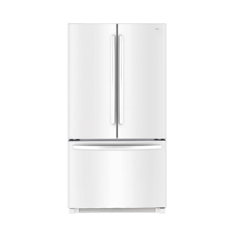 Daewoo Bottom Mount 26 cu. ft. French Door Refrigerator  Finish: White