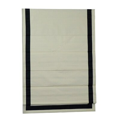 Beachcrest Home Indoor Cordless Blackout Roman Shade Color: Black/Natural, Size: 40 W x 63 L