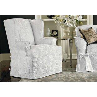 Wing Chair Slipcovers Youu0027ll Love In 2019 | Wayfair