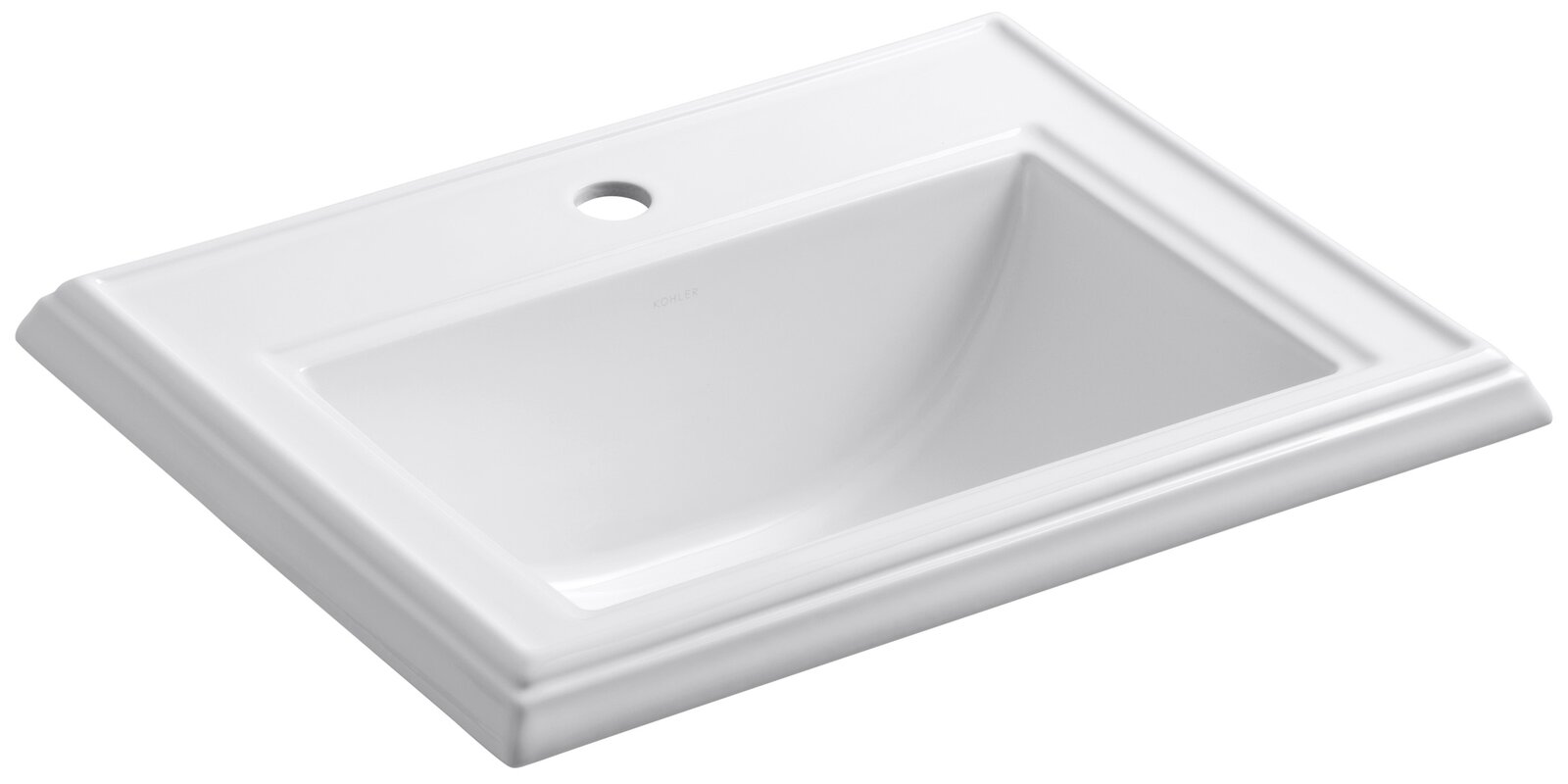 Kohler Memoirs Ceramic Rectangular Drop In Bathroom Sink With Overflow Reviews