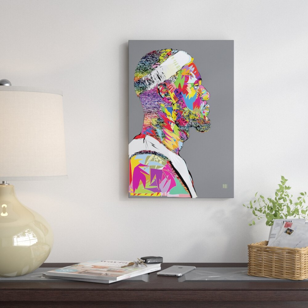 Lebron graphic art print on wrapped canvas