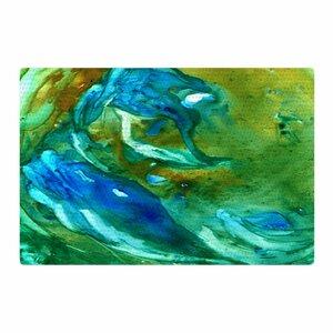 Rosie Brown Hurricane Green/Blue Area Rug