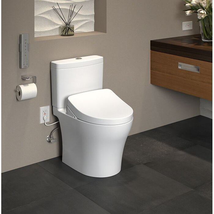 Toto Aquia IV 1G Dual Flush Elongated Two-Piece Toilet with Ewater+ ...