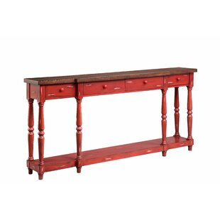 red console tables you ll love in 2019 wayfair rh wayfair com antique red sofa table red cedar sofa table