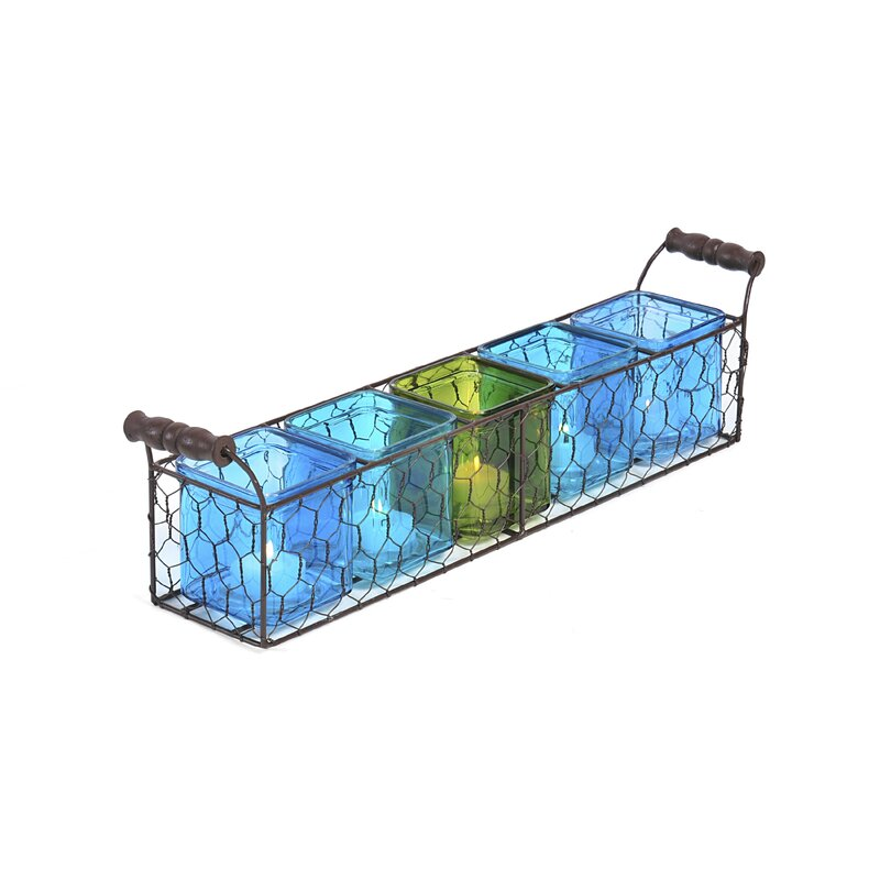 Pfaltzgraff Chicken Wire Linear 5-Tealight Holder & Reviews | Wayfair