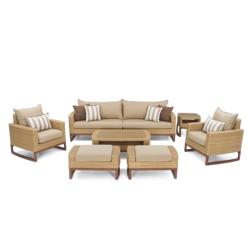 Addison 8 Piece Sunbrella Sofa Set With Cushions