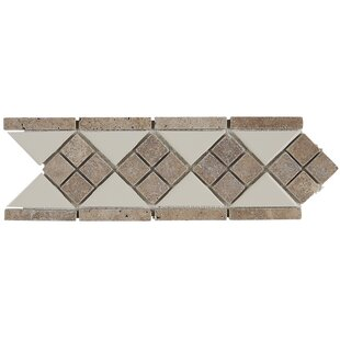 Morrison 4 X 12 Natural Stone Listello Tile In Almond And Noce