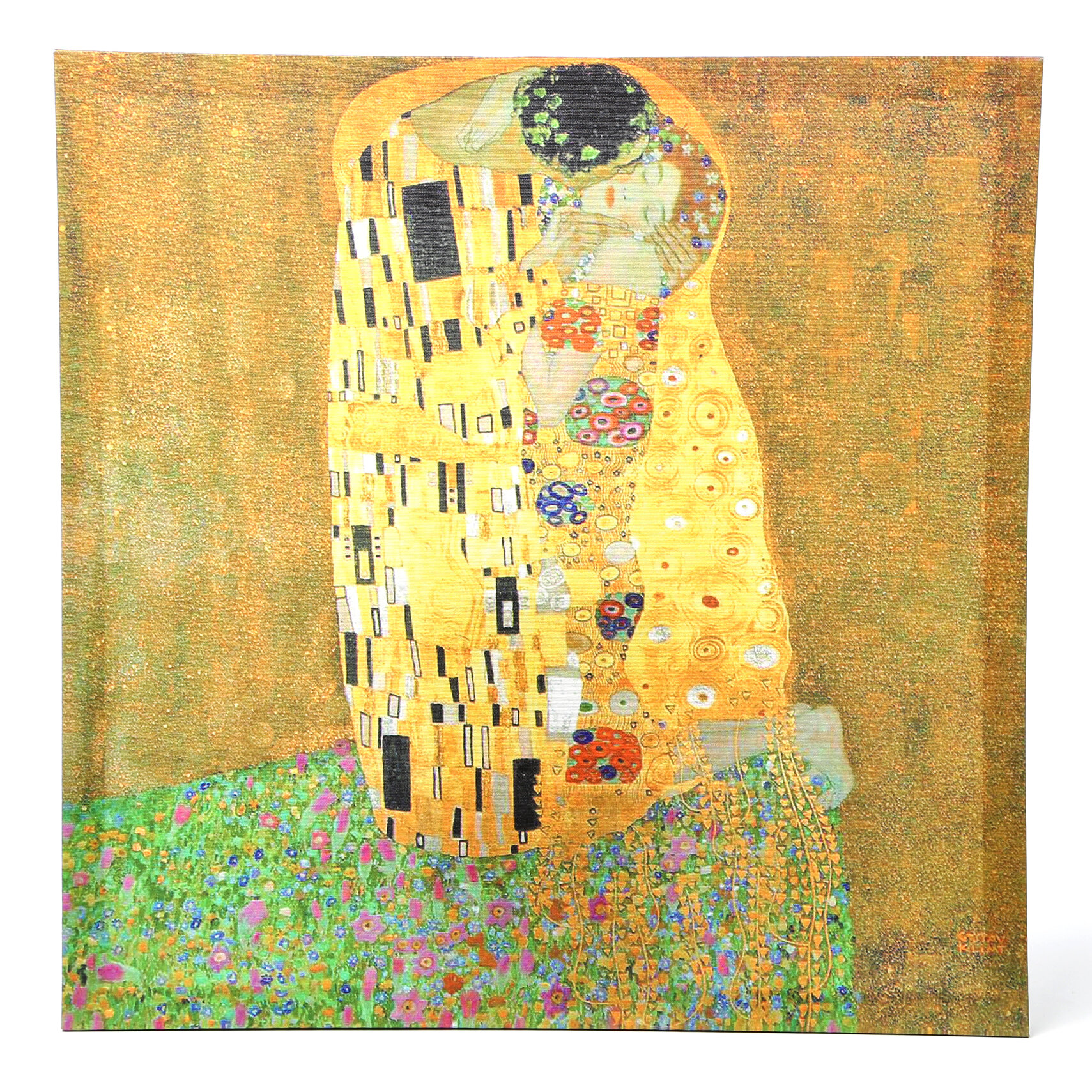 Home furniture diy home decor the kiss oil paint by gustav klimt re print on wood framed