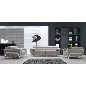 living room sets modern. Corelle 3 Piece Leather Living Room Set Modern Sets  AllModern