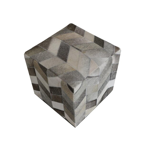 Wrought Studio Golla Geometric Hide Pouf Wayfair Custom Hide Pouf