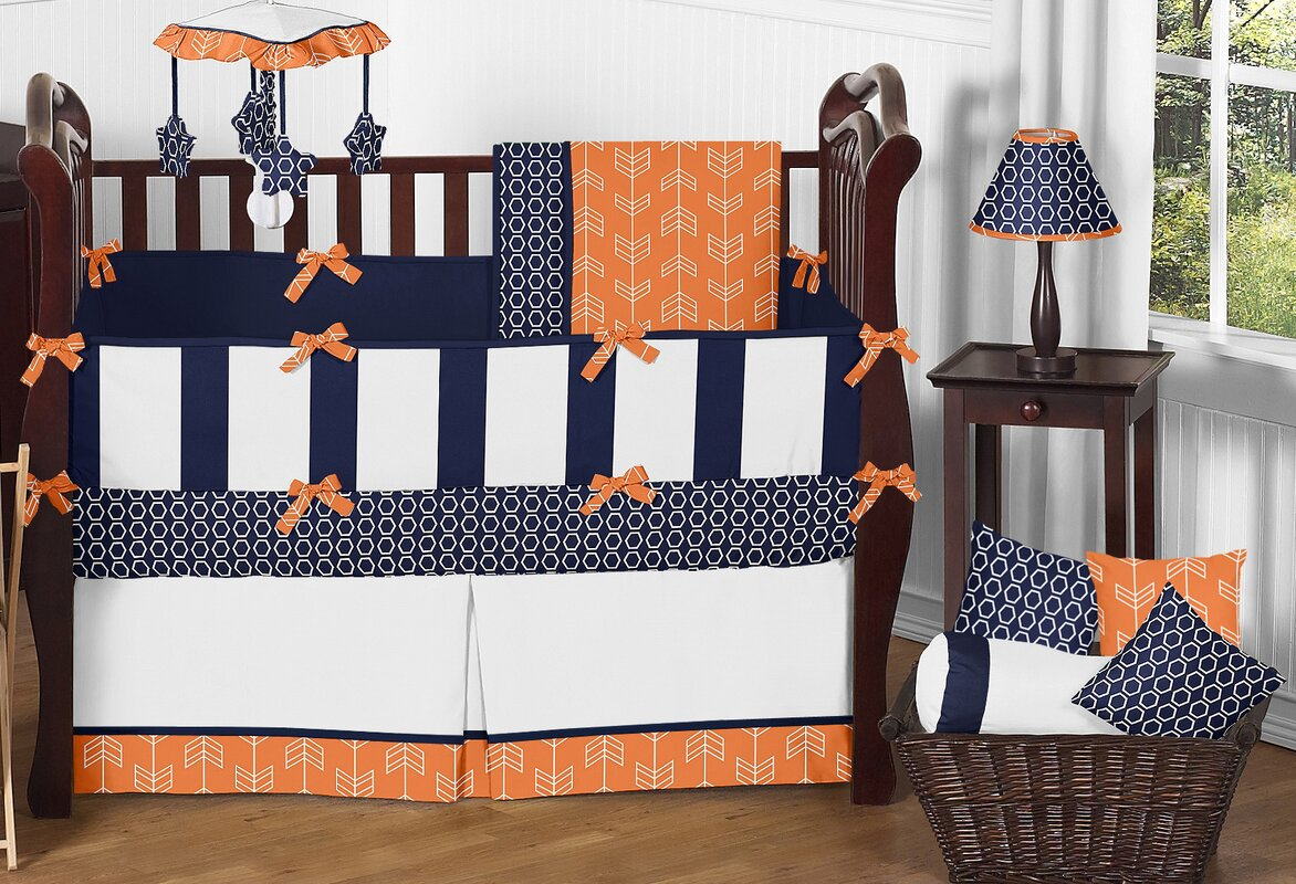Arrow 9 Piece Crib Bedding Set