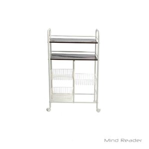 Portable Metal Storage Kitchen Cart by Mind Reader