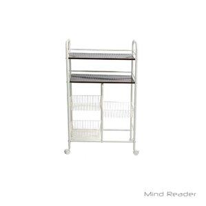 Portable Metal Storage Kitchen Cart by Mind Reader
