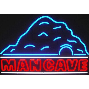 Man Cave With Neon Sign