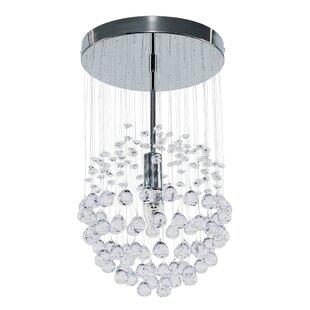 Denver 1-Light Crystal Pendant by MiniSun
