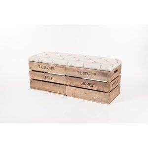 Gepolsterte Sitzbank Apple Crate aus Holz mit St..
