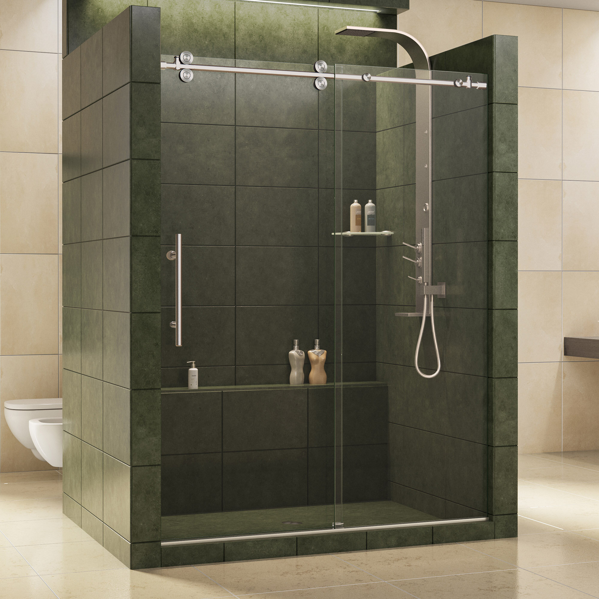 Dreamline Enigma X 60 X 79 Single Sliding Frameless Shower Door