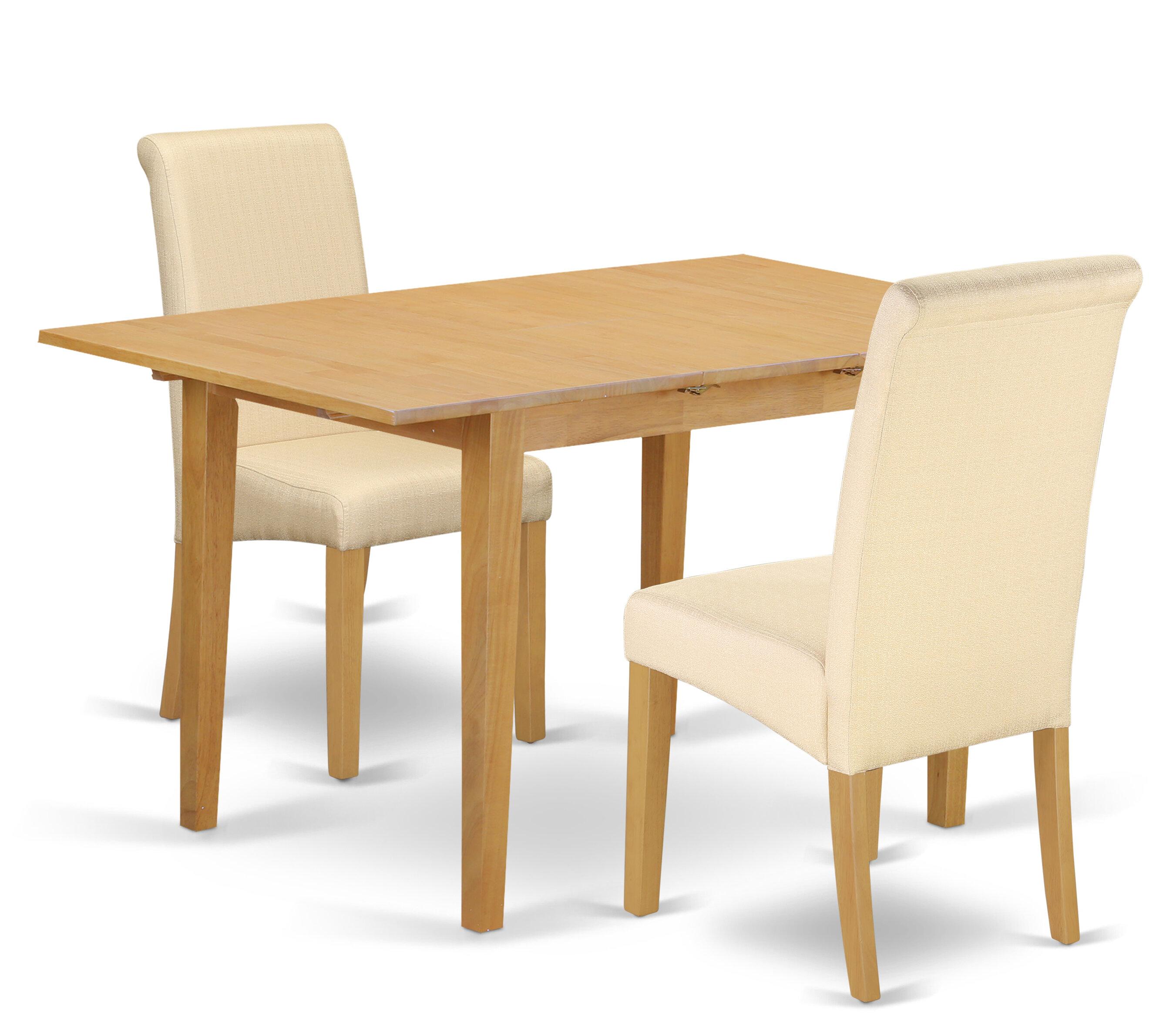 Sensational Carlie Kitchen Table 3 Piece Extendable Solid Wood Breakfast Nook Dining Set Download Free Architecture Designs Oxytwazosbritishbridgeorg