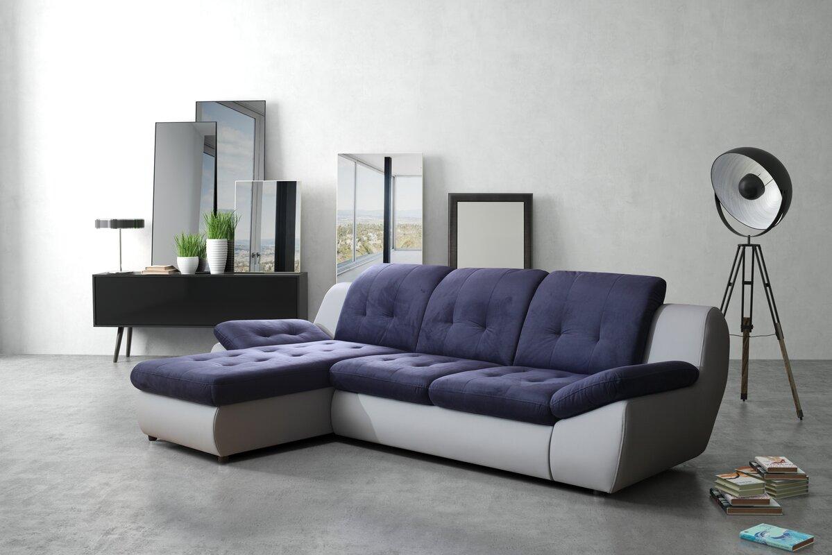 home haus ecksofa falkands mit bettfunktion bewertungen. Black Bedroom Furniture Sets. Home Design Ideas