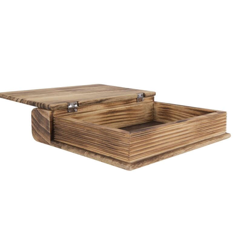 Solana Wood Book Shaped Box Container