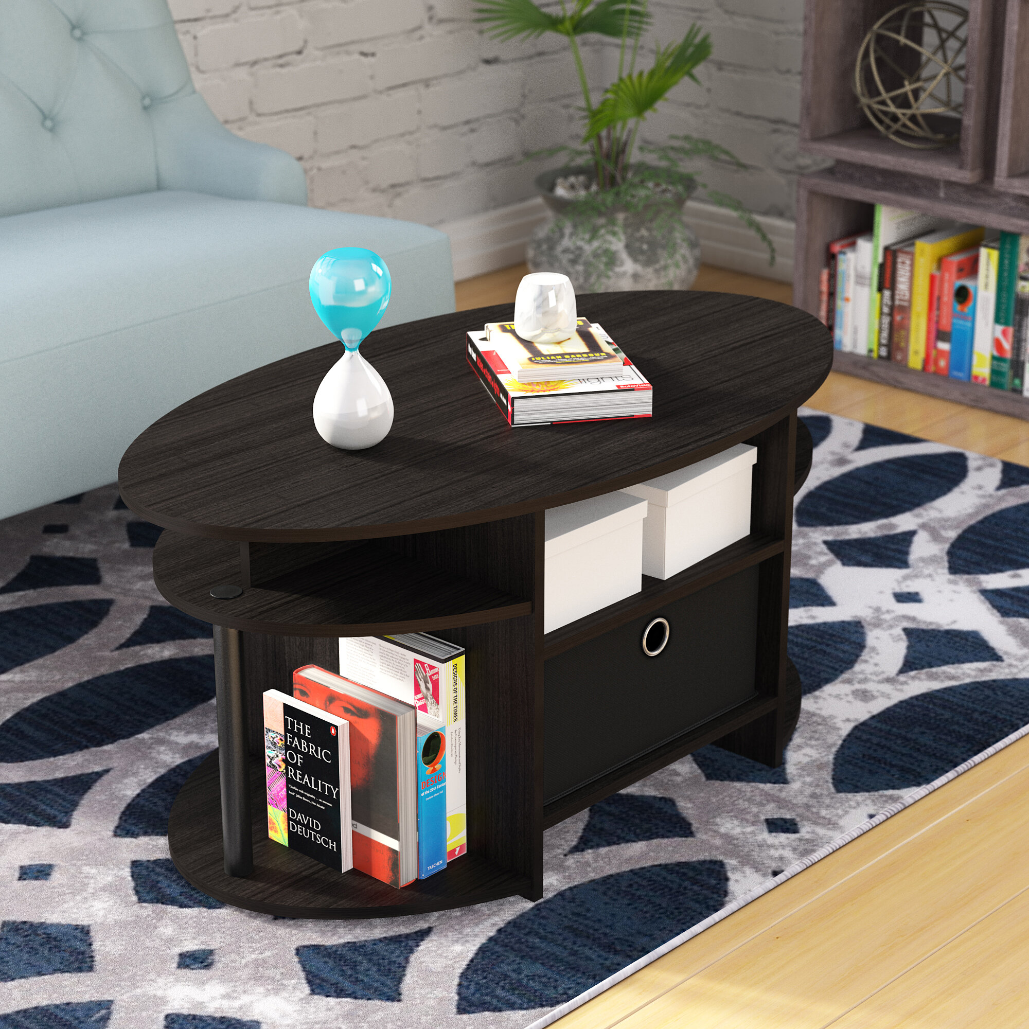 Ebern Designs Lansing Simple Design Coffee Table With Bin Reviews Wayfair