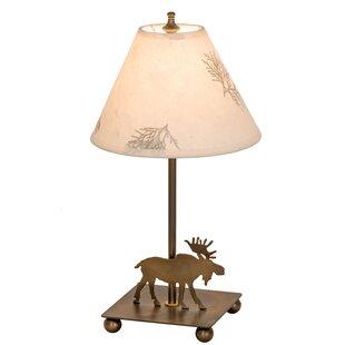 Moose Floor Lamp Moose lamps wayfair lone moose pressed flower 14 table lamp audiocablefo