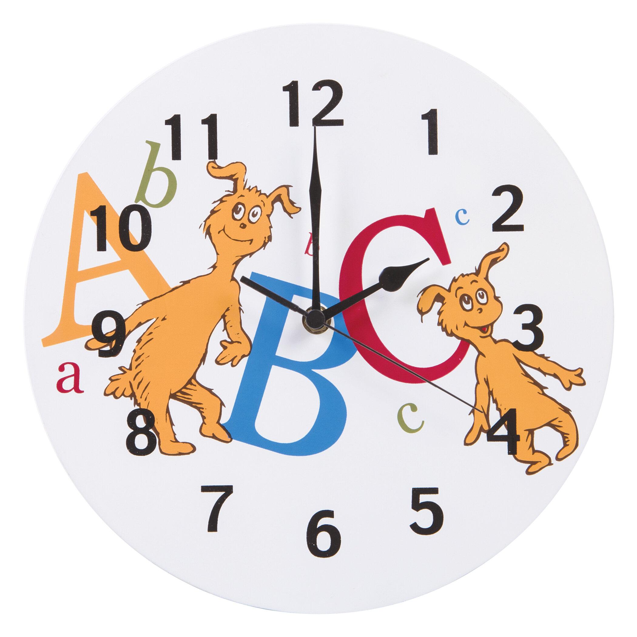 Trend Lab Dr Seuss Abc Wall Clock Usa