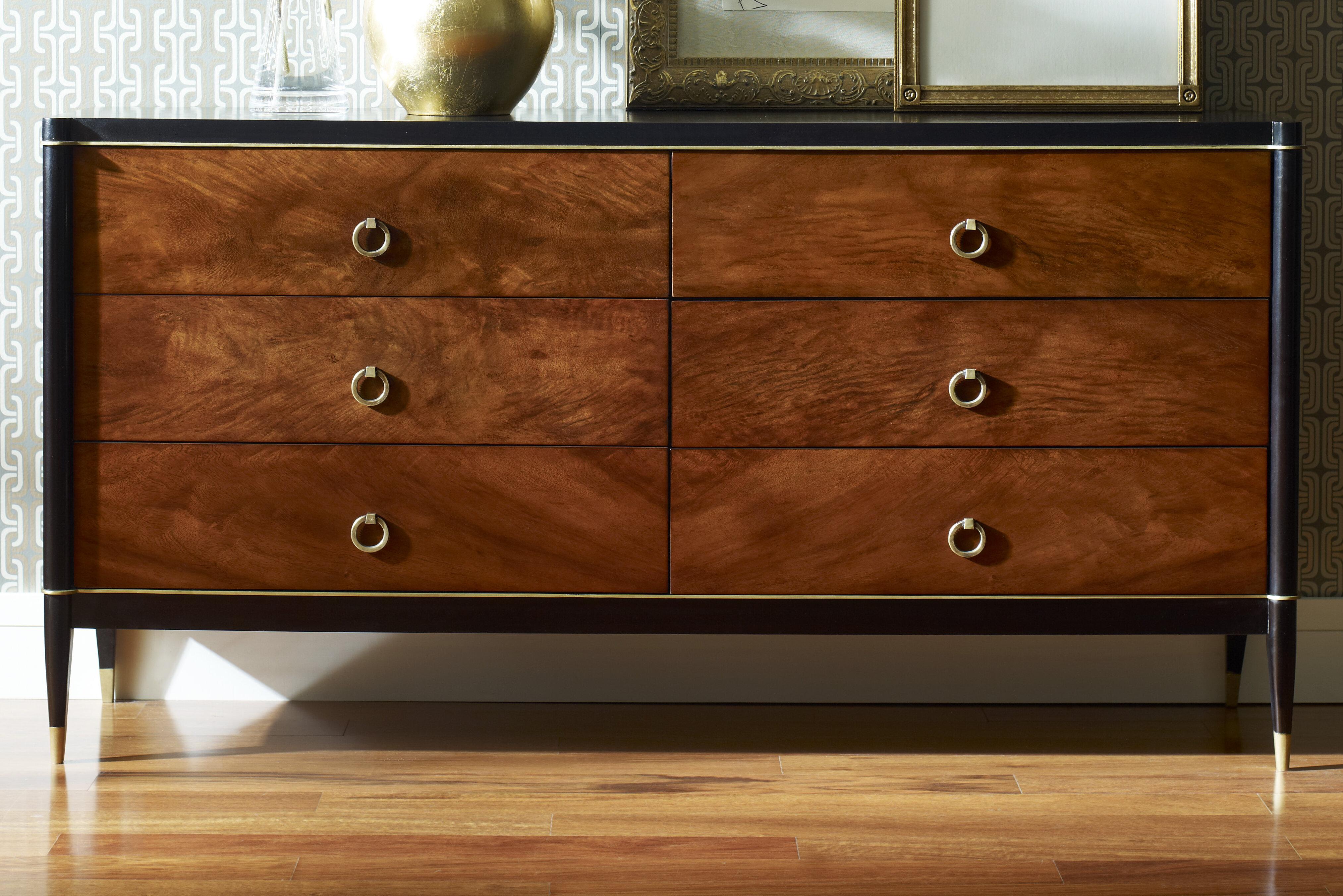 Brownstone Furniture Davenport 6 Drawer Double Dresser | Wayfair
