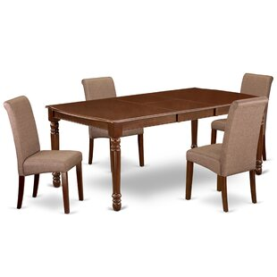 Leeton 5 Piece Extendable Solid Wood Dining Set