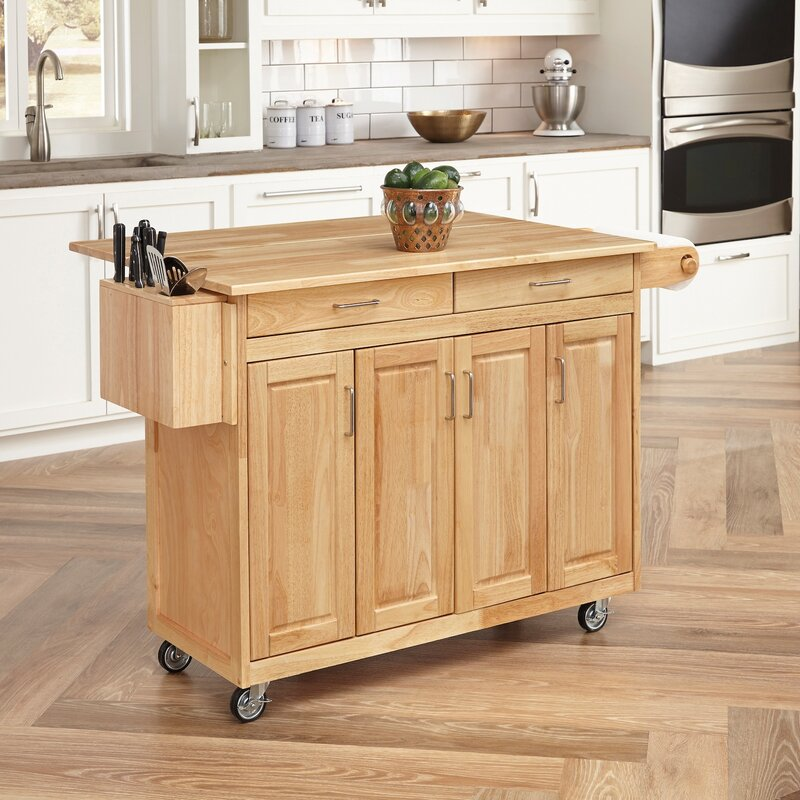 Kitchen Island august grove epping kitchen island with wood top & reviews | wayfair