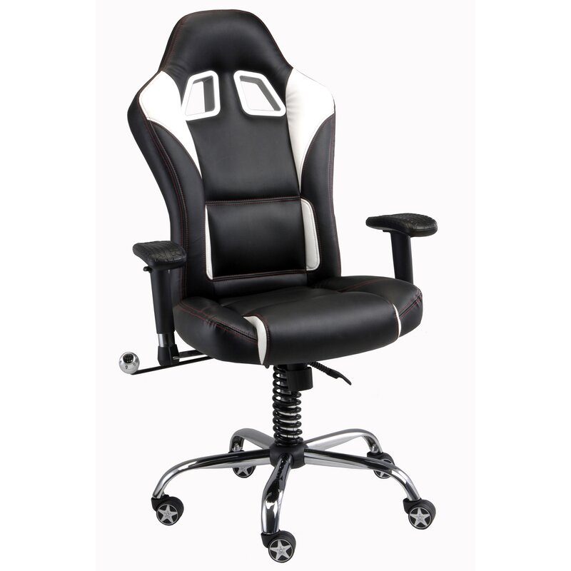 pit stop furniture racing style executive chair & reviews | wayfair