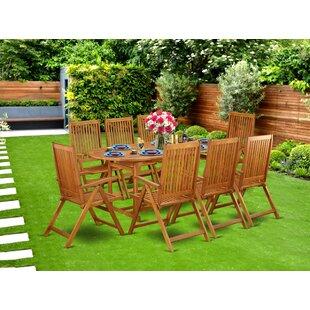 07ab93eeed Acacia Wood Patio Dining Sets You'll Love | Wayfair