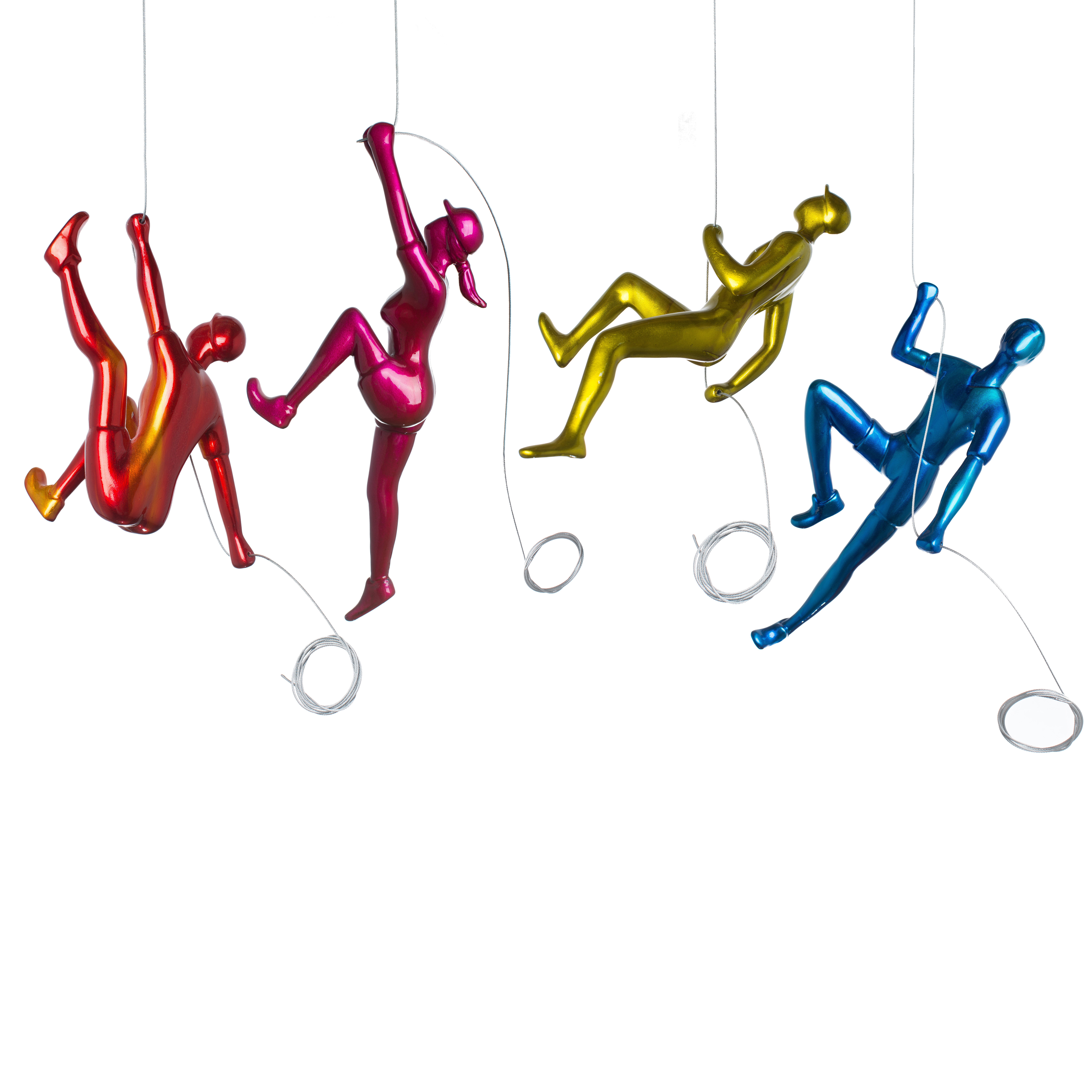 Latitude Run 4 Piece Climber Sculpture Wall Decor Set W000151061 images