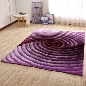 kleiber shaggy 3d purple area rug