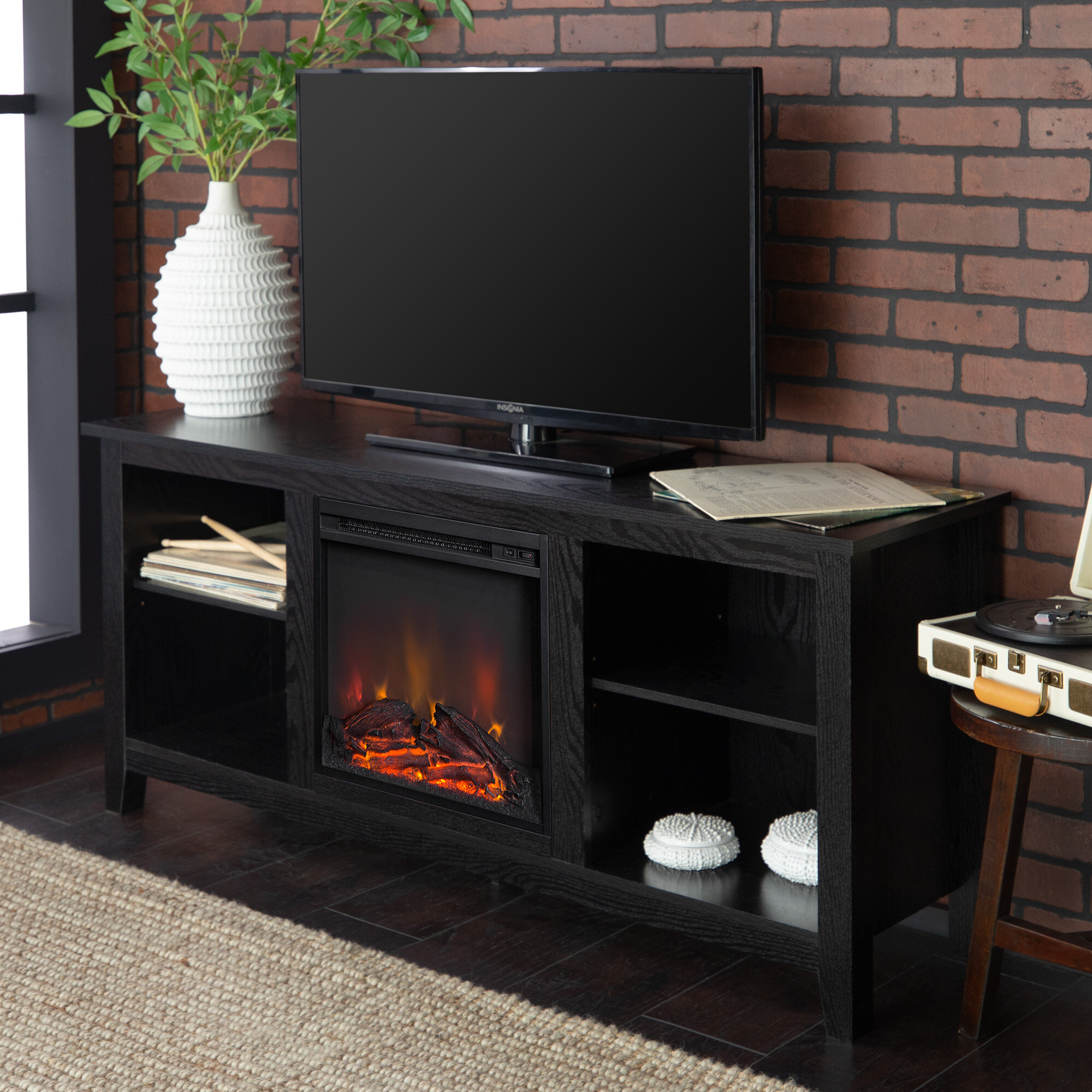 Beachcrest Home Sunbury Tv Stand For Tvs Up To 60 With Electric