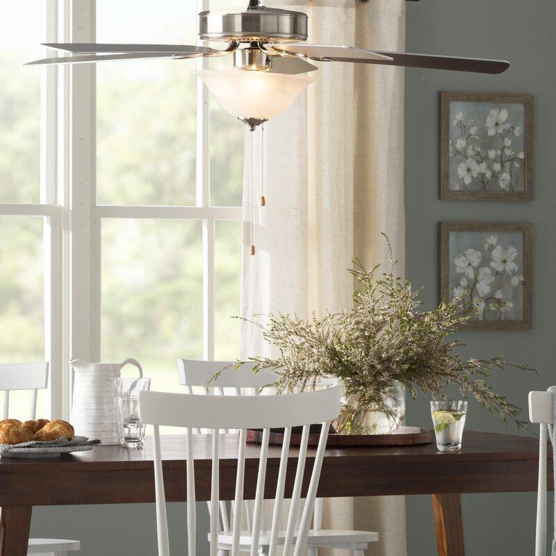 three posts hamlett 5 blade ceiling fan, light kit included & reviews |  wayfair