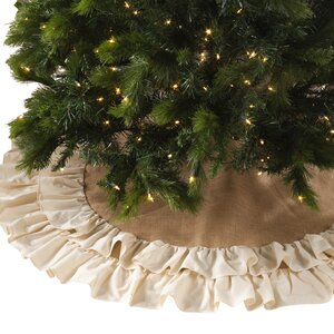 Cotton Jute Ruffled Tree Skirt